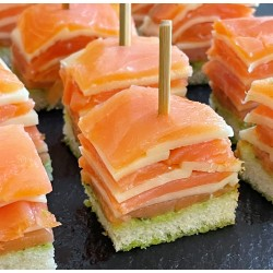 Millefeuille saumon/mozzarella
